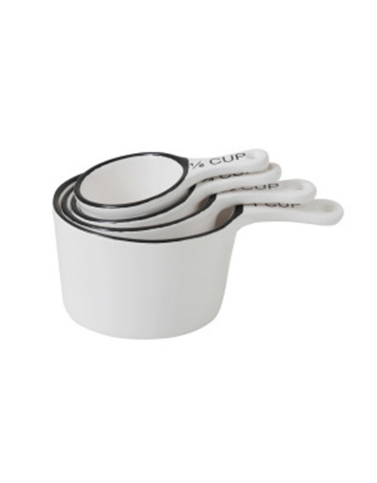 Stoneware Measuring Cup Set - White & Black