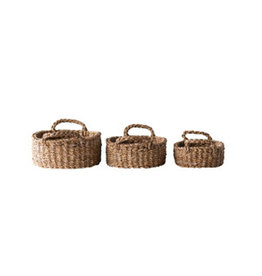 Oval Seagrass Basket with Handles