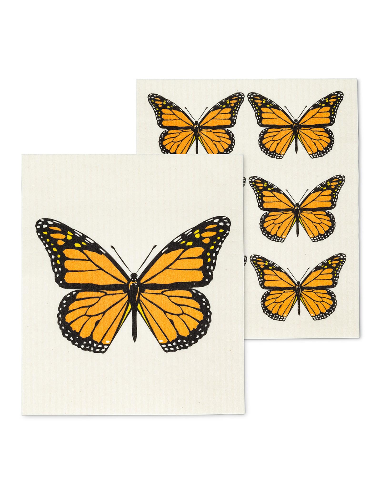 Monarch Butterfly Swedish Dishcloth S/2