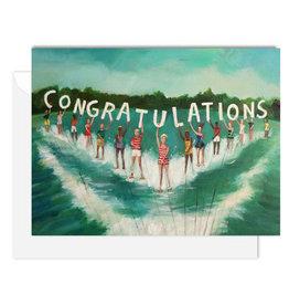 Janet Hill Studio Congratulations - Water Skiers