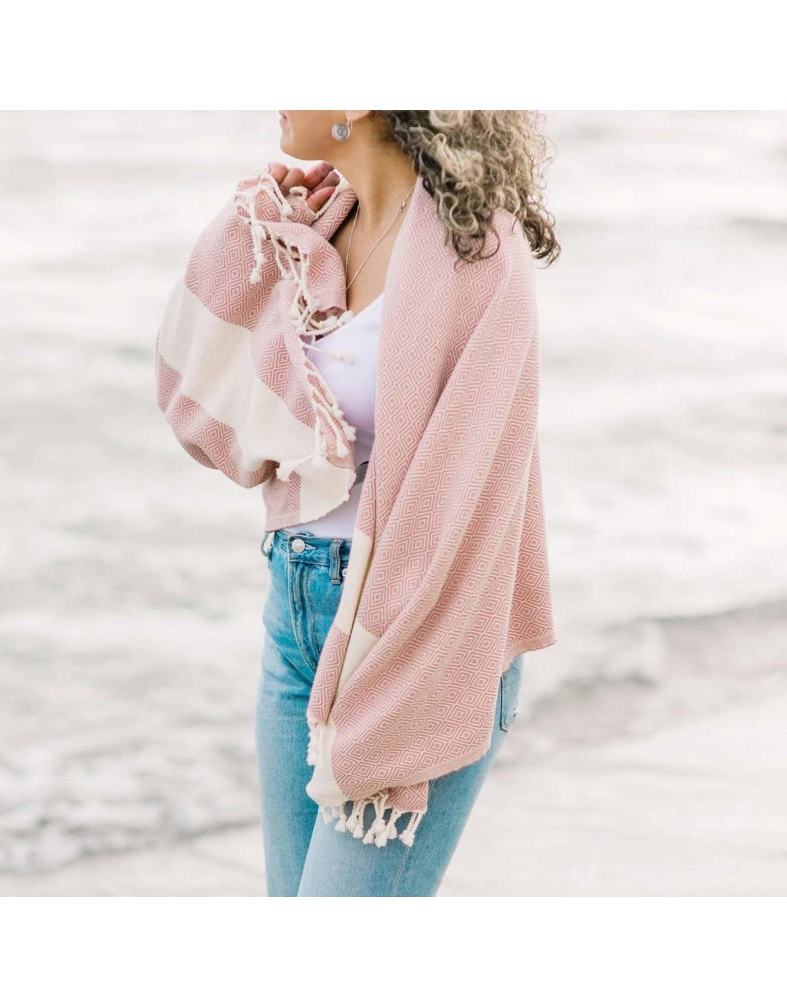 Turkish Bath Towel Diamond - Atelier Pink