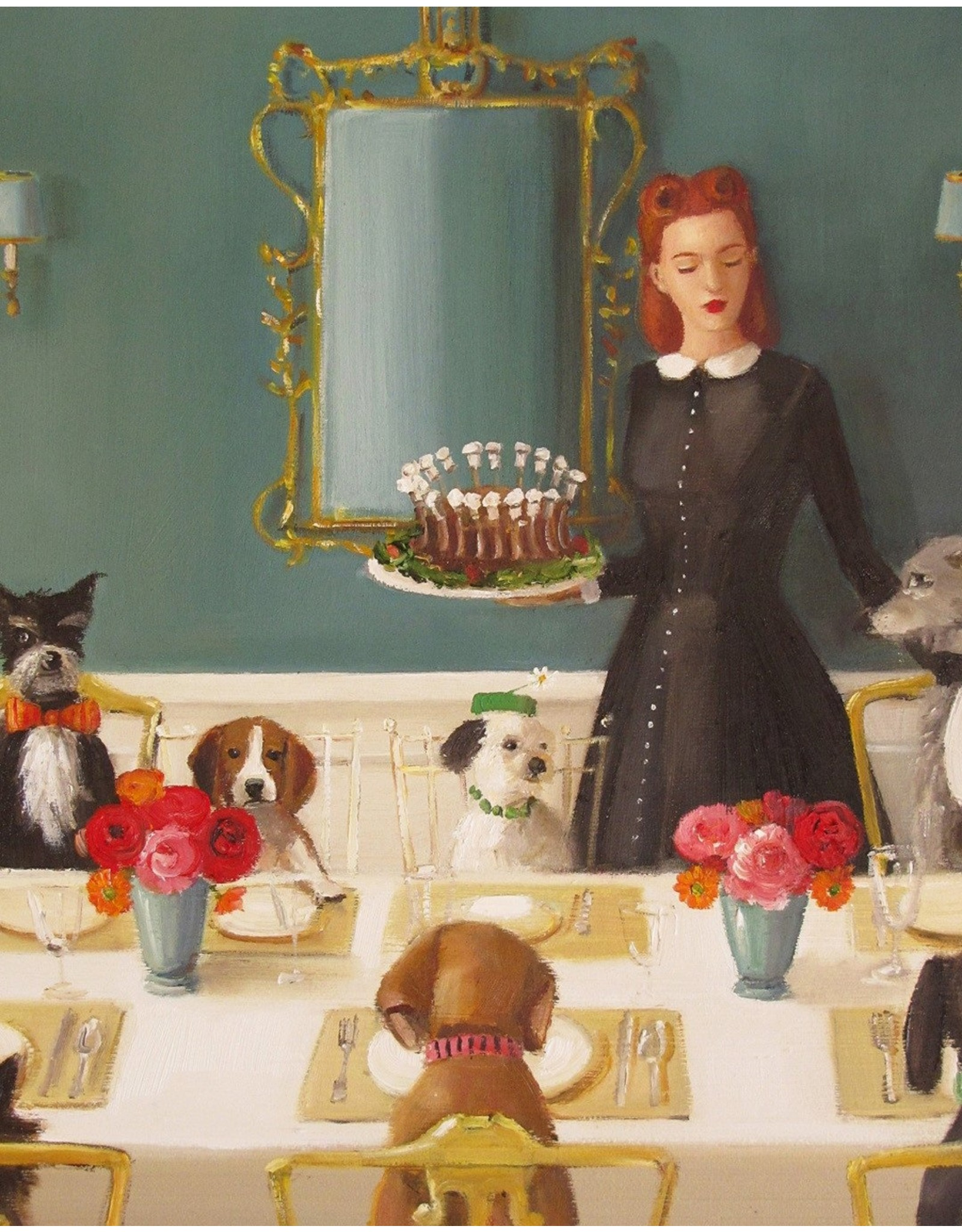 "Janet Hill Studio Art Print - Well-Mannered Dogs - 8.5"" x 11"""