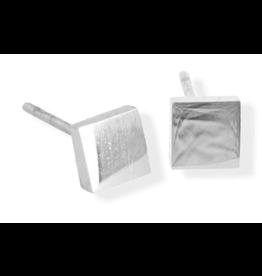 jj + rr Element Square Stud Earrings Silver