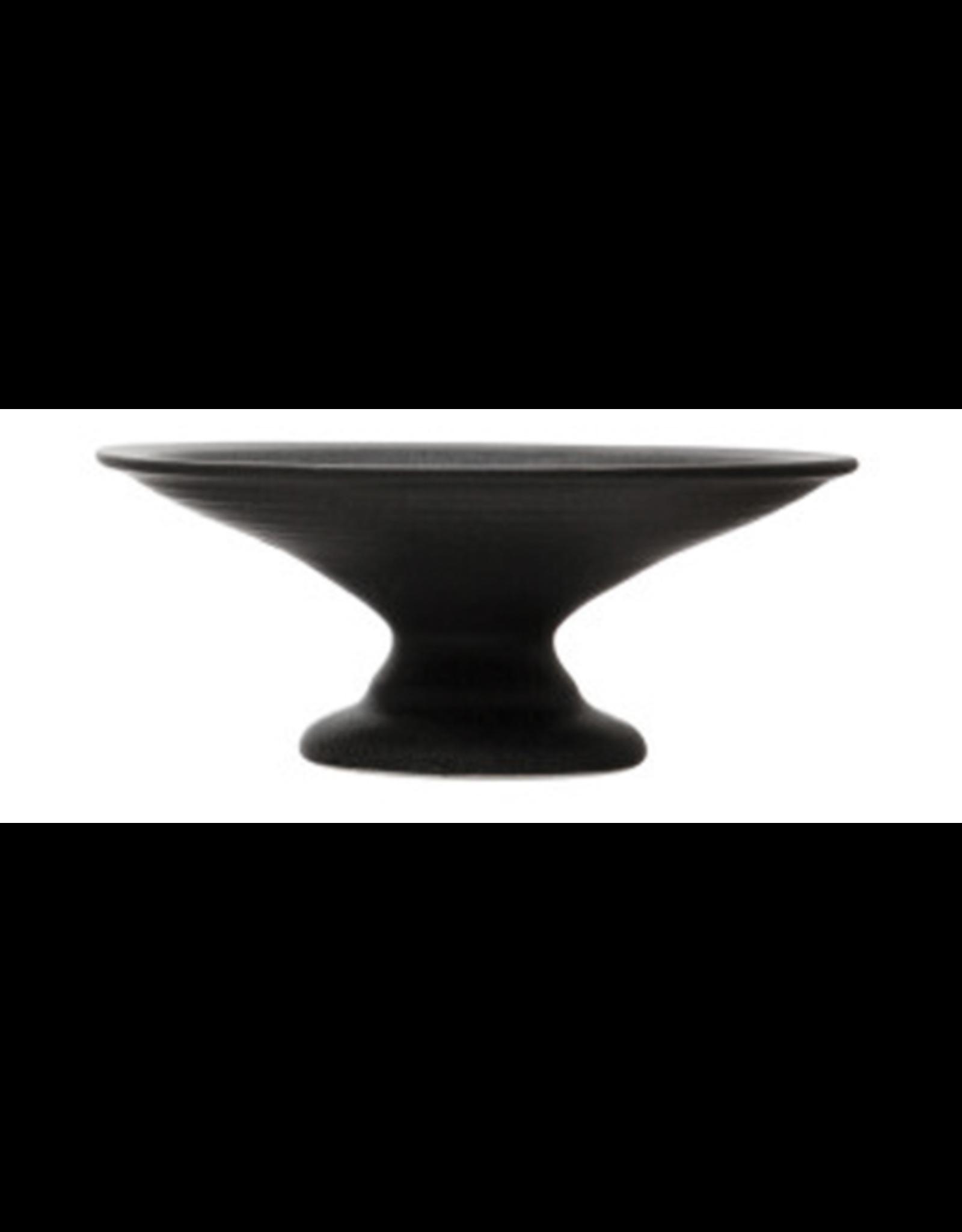"""Stoneware Pedestal 8""""x3"""" - Basalt"""
