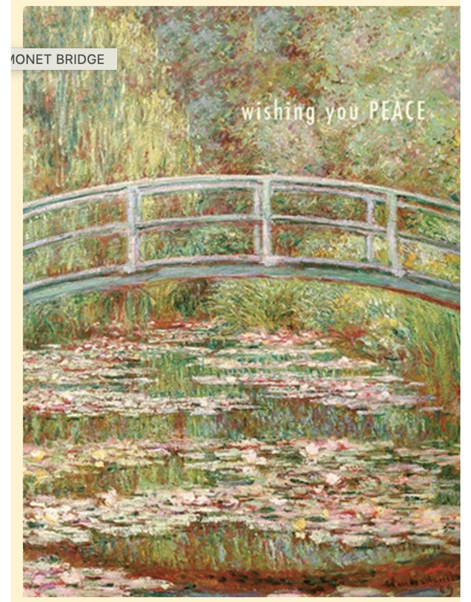 Sympathy - Wishing You Peace Monet Bridge