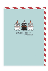 Birthday - Birthday Pugs & Pin