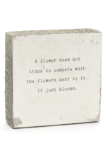Wall Block - A Flower Does Not