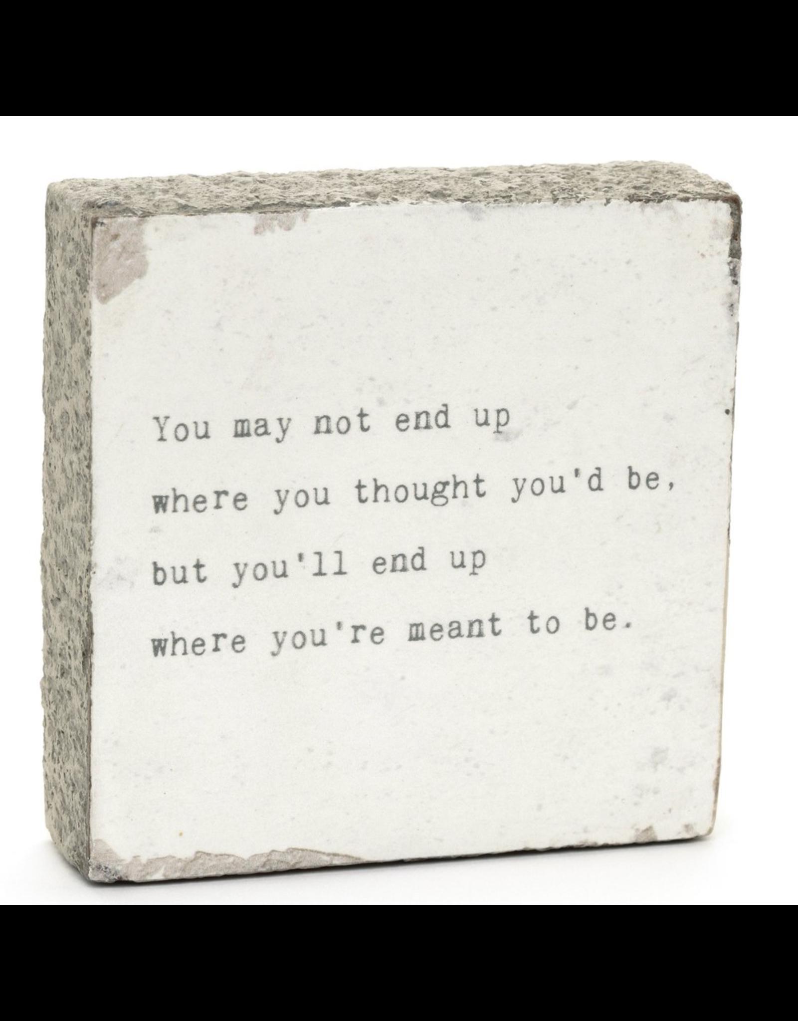 Wall Block - May Not End Up