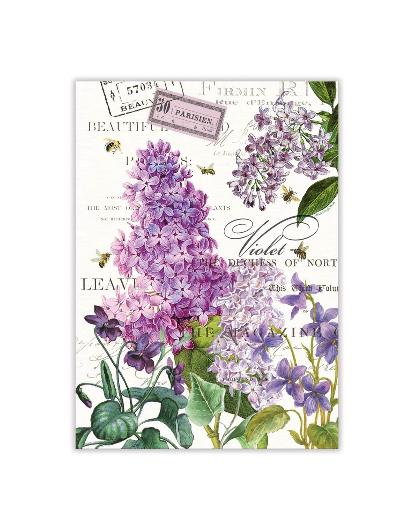 Michel Design Michel Lilac and Violets Kitchen Towel