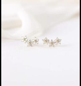 Blossom Climber Earrings - Gold
