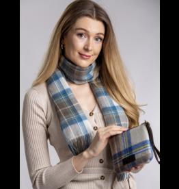 Patrick King Woollen Co. PK Hannah Clutch - Stewart Muted Blue