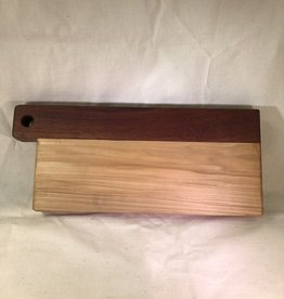 Large Poplar and Sapele Cutting Board