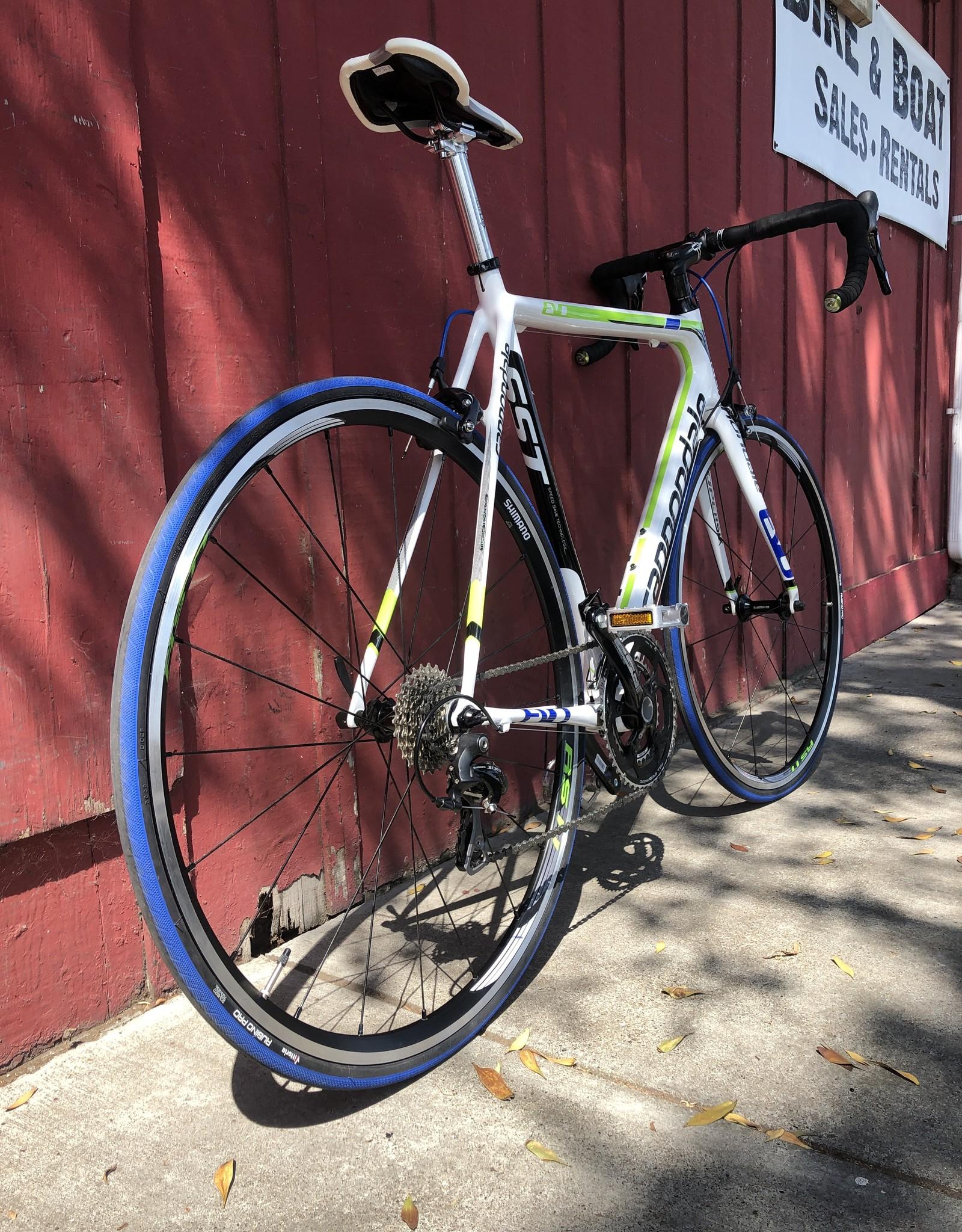 Cannandale Evo -  carbon - 56cm - white/blue/green