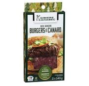 Canabec Burger de canard, 2x140g, congelé