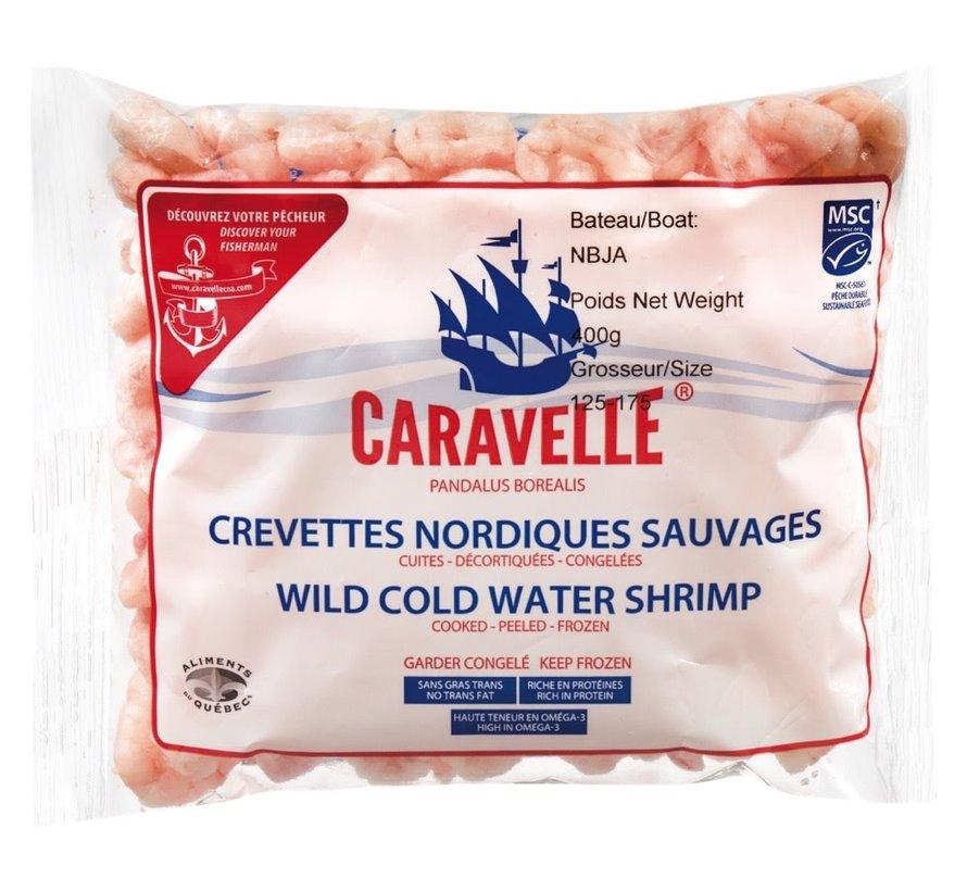 Crevettes nordiques 125/175  400g, surgelé