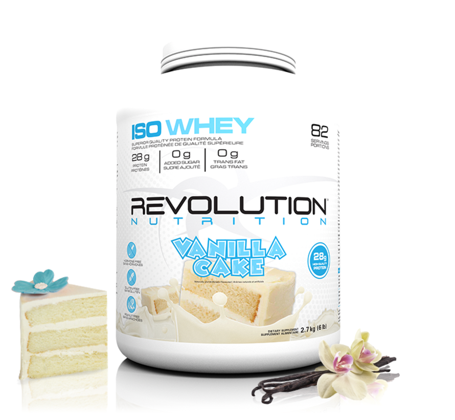 Revolution Whey Isolate - 2lb ou 6lb (4 saveurs disponibles)