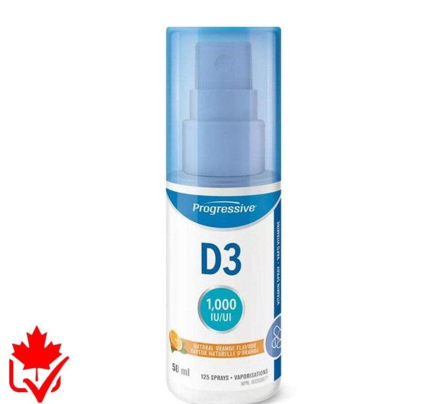 Progressive Vitamin D3 vaporisateur 58ml