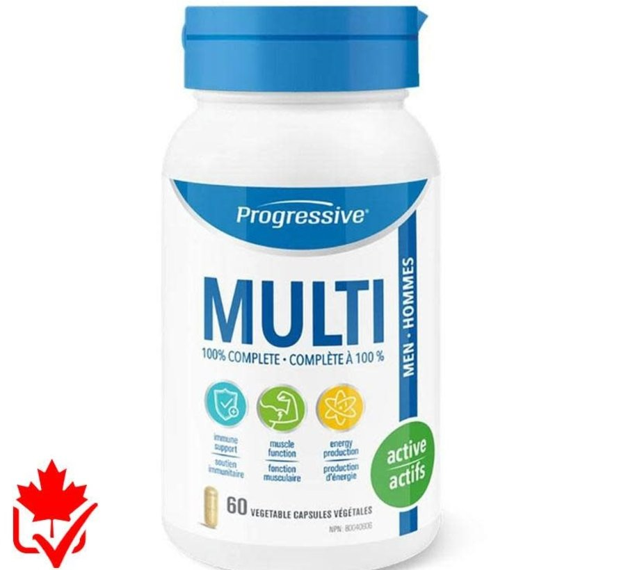 Progressive Multivitamin Active Hommes 60 caps