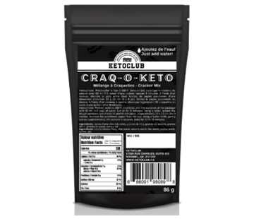 KetoClub Craq-O-Keto (mélange à craquelins keto), 86g