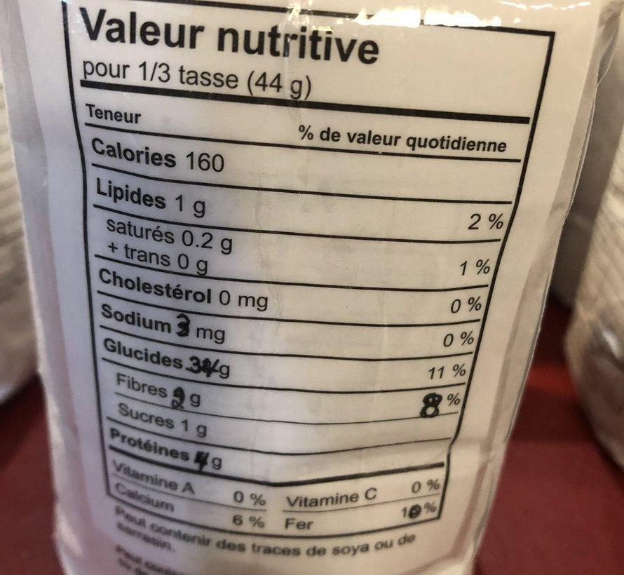 Farine de blé pour pâtisseries, 1kg, Moulin Légaré