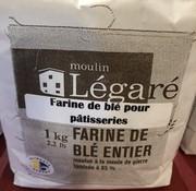 Moulin Légaré Farine de blé pour pâtisseries, 1kg, Moulin Légaré