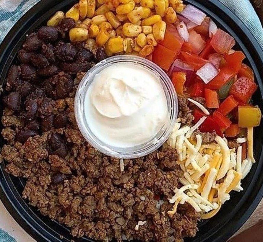 Bol de taco Mexicain au boeuf, congelé