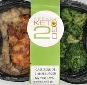Keto2go Casserole de cheeseburger Keto / Cétogène (glu: 5)