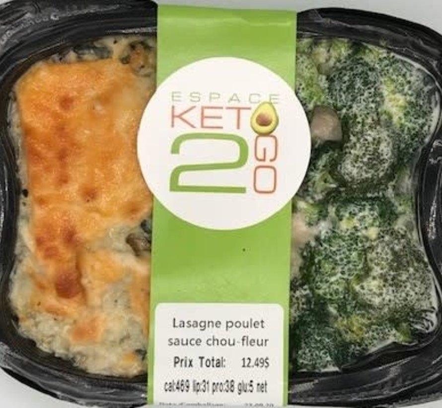 Lasagne poulet sauce chou-fleur Keto / Cétogène (glu: 5)