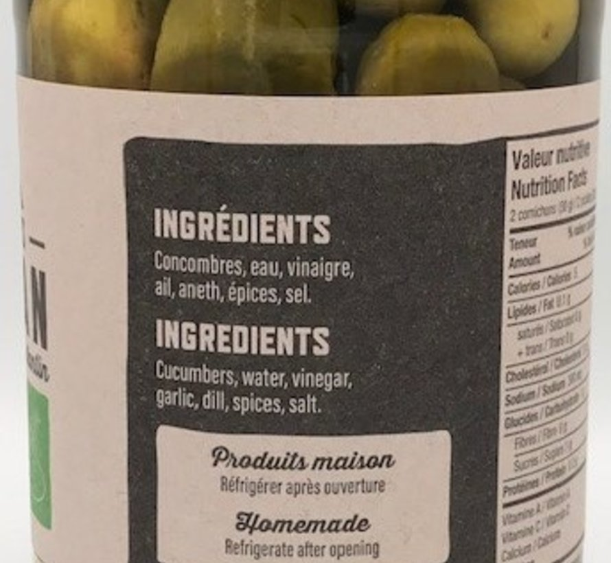 Concombres à l'aneth (Dill Pickles)