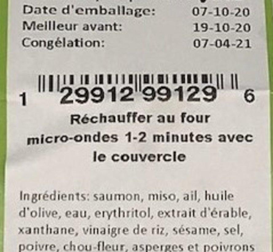 Saumon au miso et sésame Keto / Cétogène (glu: 5.2)