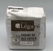 Moulin Légaré Farine de blé entier (tamisée à 100%), 1kg, Moulin Légaré