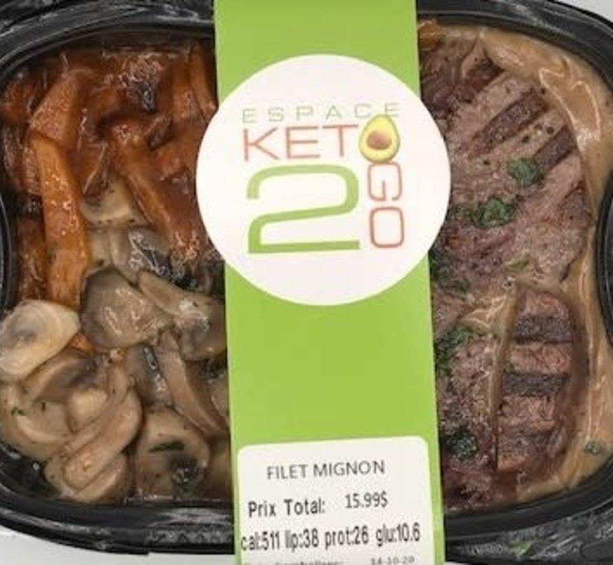 Filet mignon Keto / Cétogène (glu: 10.6)
