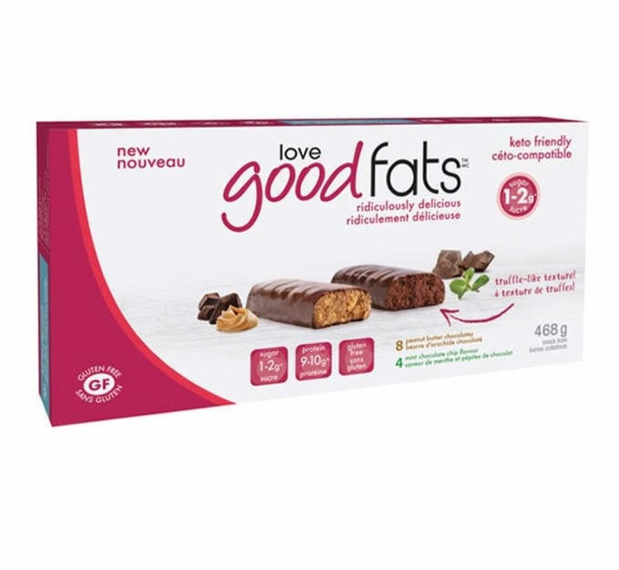 Boîte - 12 barres collation (468g - Love good fats)