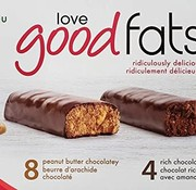 Love good fats Boîte - 12 barres collation incluant choco amandes (468g - Love good fats)