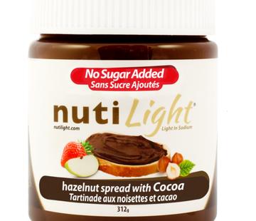 NutiLight NUTILIGHT Tartinades de Noisettes, 312g