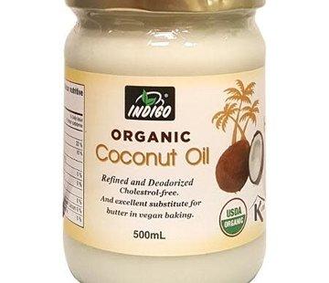 Indigo Huile de coco raffinée biologique Indigo, 500ml