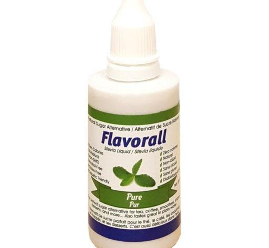 Gouttes de stévia liquide Flavorall, 50ml