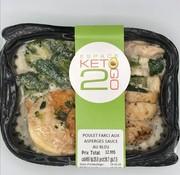 Keto2go Poulet farci aux asperges sauce au bleu Keto / Cétogène (glu: 7.9)