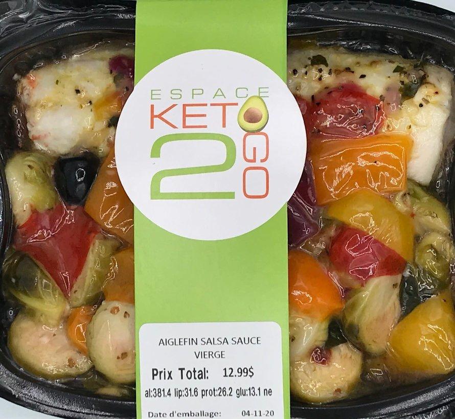 Aiglefin salsa sauce vierge Keto / Cétogène (glu: 13.1)
