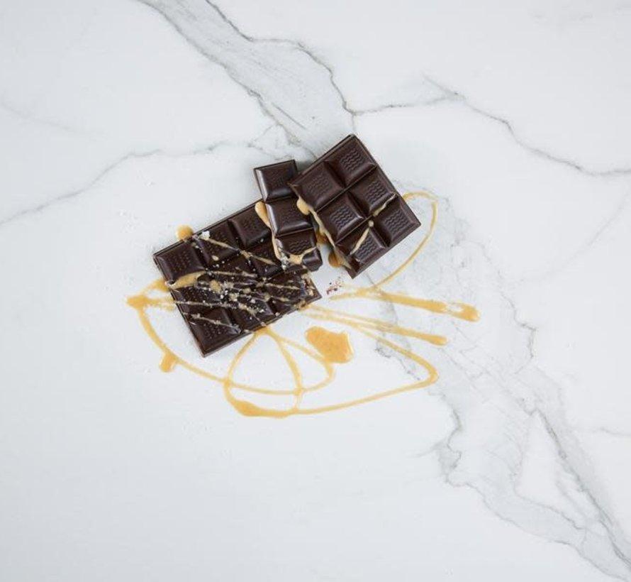Barre de chocolat Kéto caramel salé