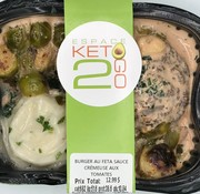 Keto2go Burger au Feta sauce crémeuse aux tomates Keto / Cétogène (glu: 10.84)