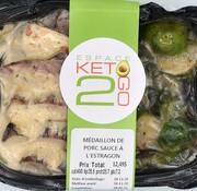 Keto2go Médaillon de porc sauce à l'estragon Keto / Cétogène (glu: 7.2)