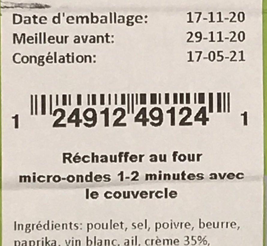 Poulet au beurre et paprika Keto / Cétogène (glu: 7.1)