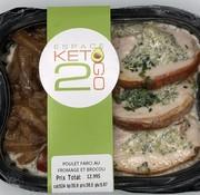 Keto2go Poulet farci au fromage et brocoli Keto (5.67 glu)