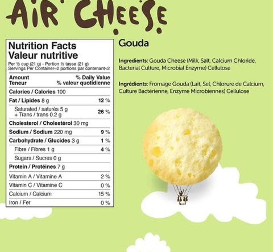 Air Cheese - Bouchés de fromages croquantes (Gouda, 42g)