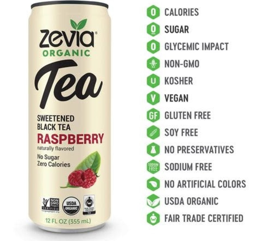 Zévia - Thé biologique 355ml (plusieurs saveurs)