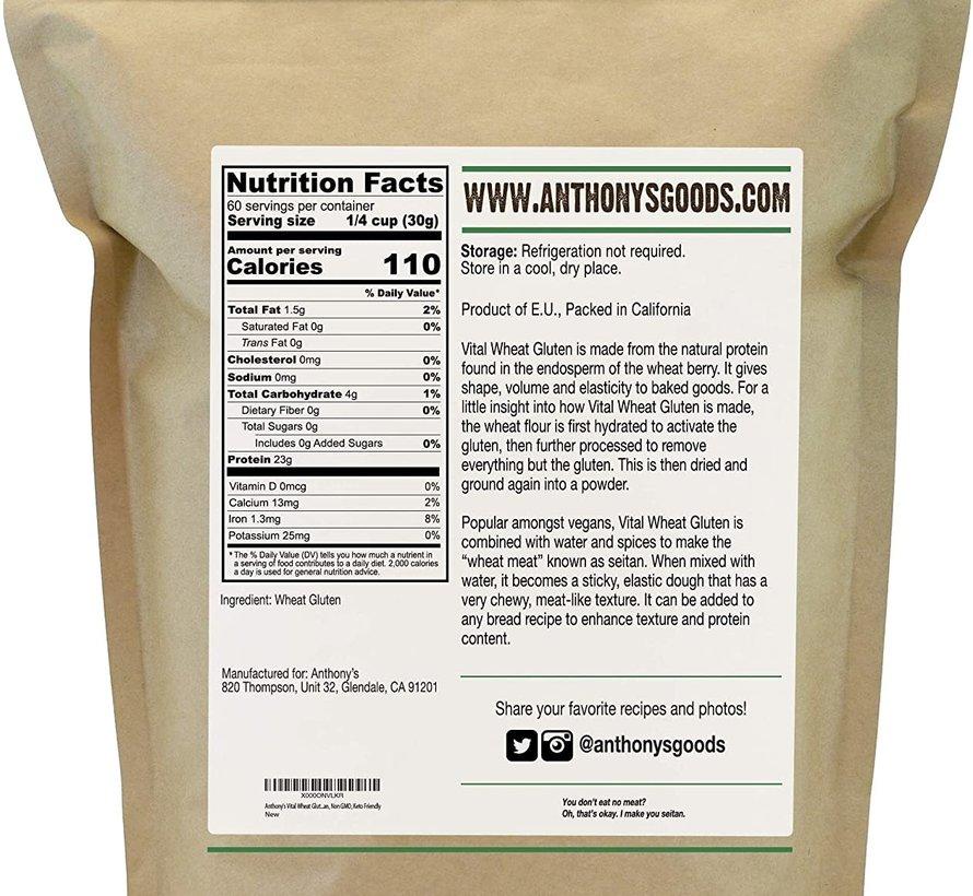 Gluten de blé biologique sans OGM (4 lb)