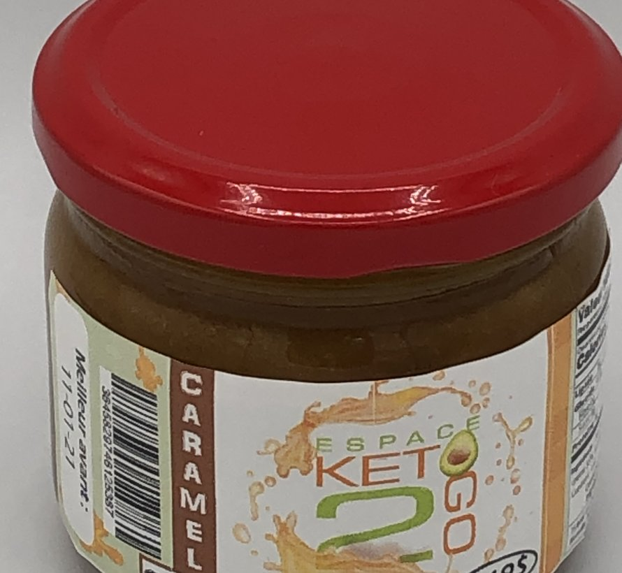 Caramel à l'érable Keto / Cétogène (glu: 0.5 / 30 mL)