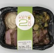 Keto2go Filet de porc au vin rouge céto/kéto (glu: 12.5g)