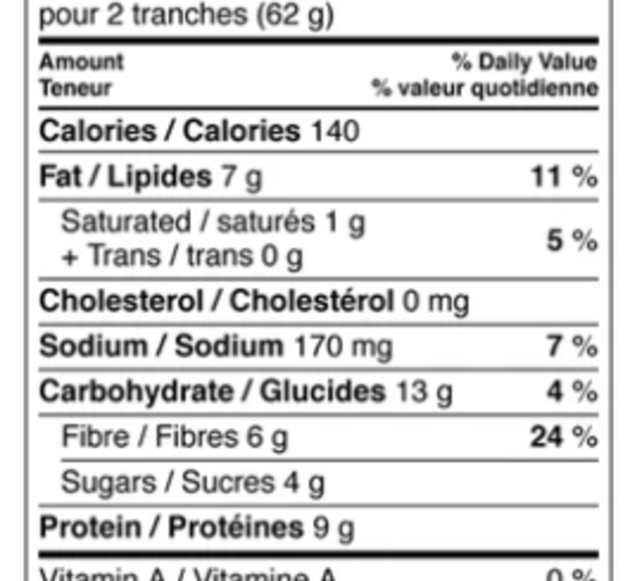 Pain tranché Slice of Life (raisins et cannelle)
